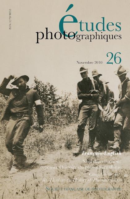 Parution du n°26 d'Études Photographiques
